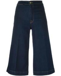 Falda pantalón vaquera azul marino de Frame