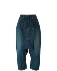 Falda pantalón vaquera azul marino de Junya Watanabe