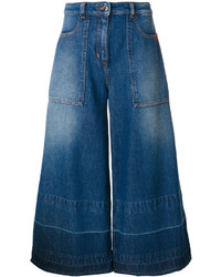 Falda pantalón vaquera azul marino de Love Moschino