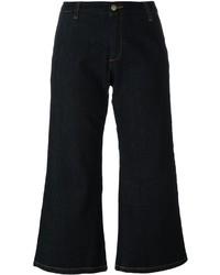 Falda pantalón vaquera azul marino de P.A.R.O.S.H.