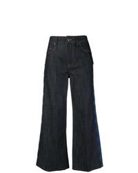 Falda pantalón vaquera azul marino de RED Valentino