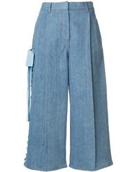 Falda pantalón vaquera azul de Fendi