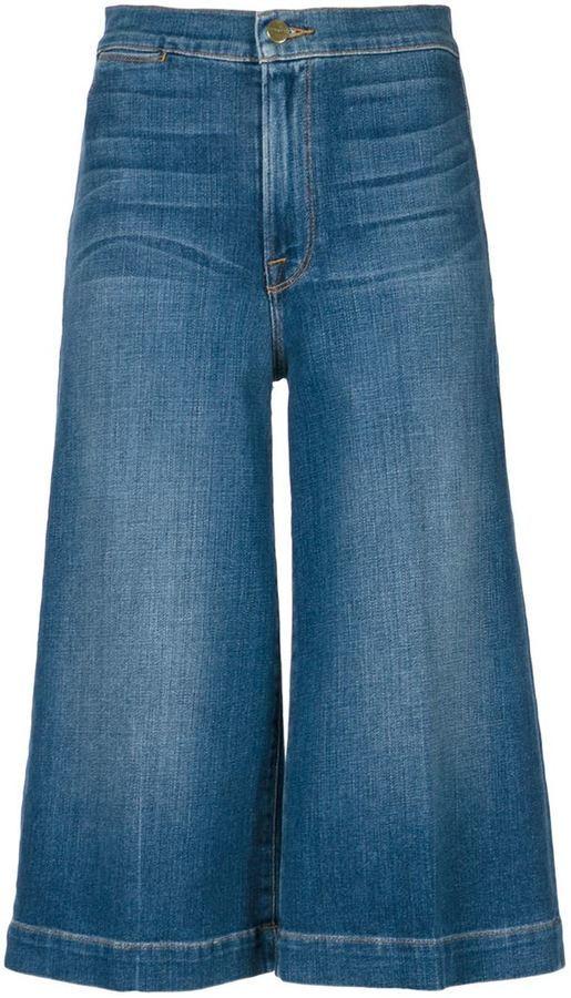 c4c28992e4 ... Falda pantalón vaquera azul de Frame