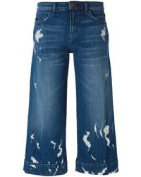 Falda pantalón vaquera azul de J Brand