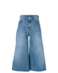 Falda pantalón vaquera azul de Pinko