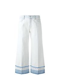 Falda pantalón vaquera celeste de J Brand