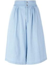 Falda pantalón vaquera celeste de Tsumori Chisato