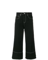 Falda pantalón vaquera negra de MSGM
