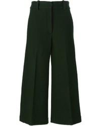 Falda pantalón verde oscuro de Jil Sander