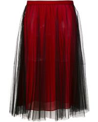 Falda plisada burdeos de Versace