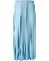 Falda plisada celeste de MM6 MAISON MARGIELA
