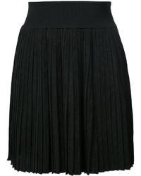 Falda plisada negra de Balmain
