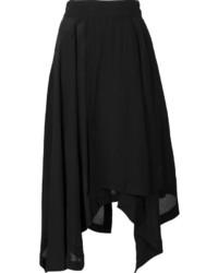 Falda Plisada Negra de Loewe