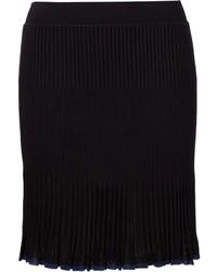 Falda plisada negra de Rag & Bone