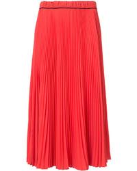 Falda Plisada Roja de Marc Jacobs