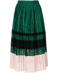 Falda Plisada Verde Oscuro de No.21