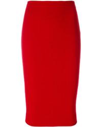 Falda roja de Victoria Beckham