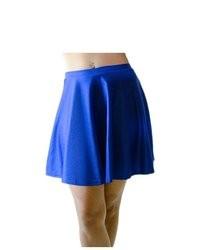 Falda skater azul