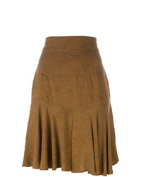 Falda skater marrón de Alaïa Vintage