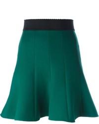 Falda skater verde oscuro de Dolce & Gabbana