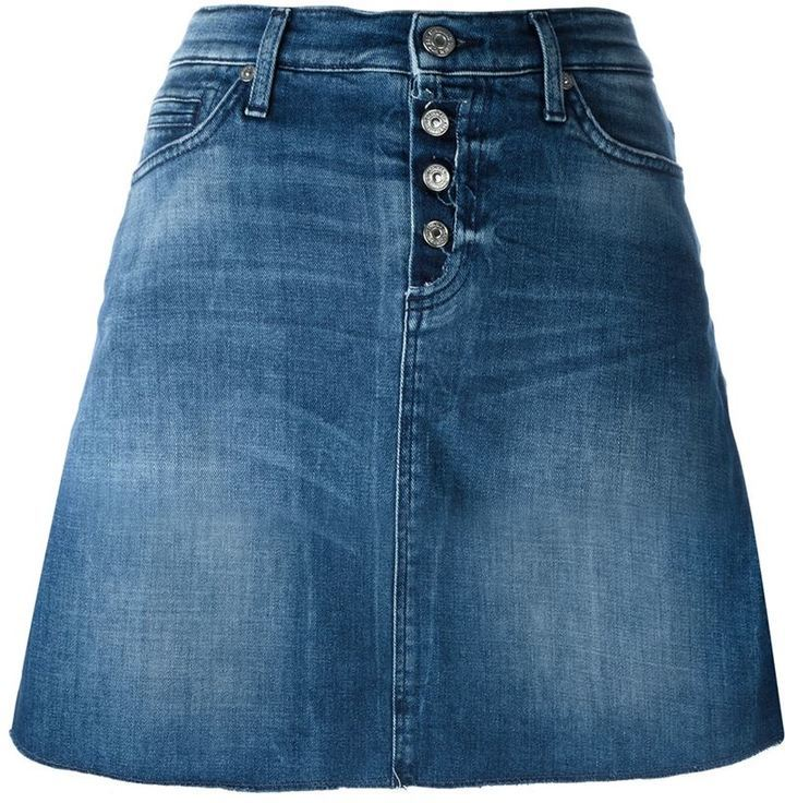 8fde29046 Falda vaquera azul de 7 For All Mankind