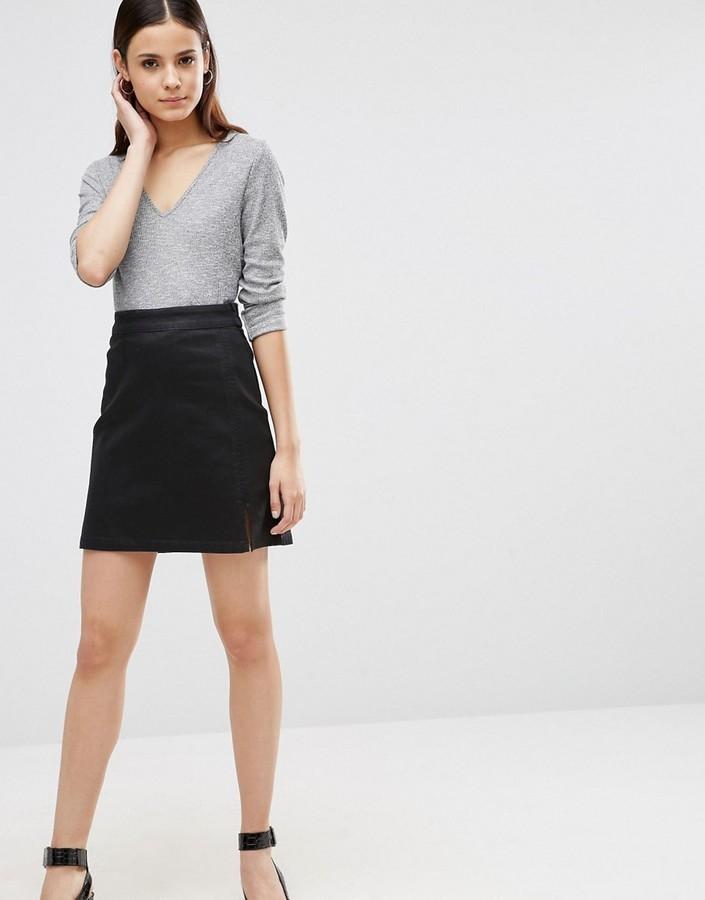 falda vaquera negra de asos