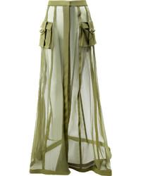 Falda verde oliva de Balmain