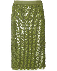 Falda verde oliva de Twin-Set