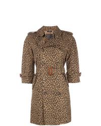 Gabardina de leopardo marrón de R13