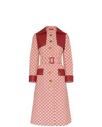 Gabardina estampada roja de Gucci