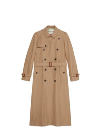 Gabardina marrón claro de Gucci