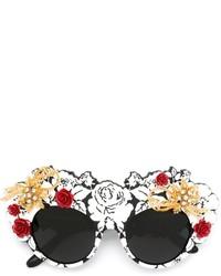 Gafas de sol con adornos negras de Dolce & Gabbana