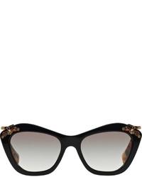 Gafas de sol con adornos negras de Miu Miu