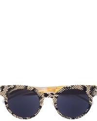 Gafas de Sol con print de serpiente Negras de Mykita