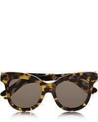 Gafas de sol de leopardo en marrón oscuro