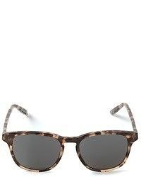 Gafas de sol de leopardo en marrón oscuro de Bottega Veneta