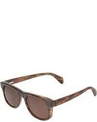 Gafas de sol de leopardo en marrón oscuro de The Elder Statesman