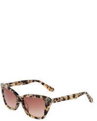Gafas de sol de leopardo marrón claro