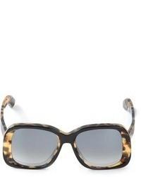 Gafas de sol de leopardo negras de Sportmax