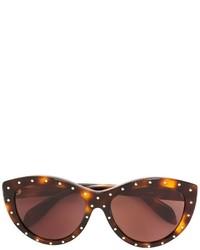 Gafas de sol en marrón oscuro de Alexander McQueen