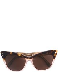 Gafas de sol en marrón oscuro de Linda Farrow Gallery