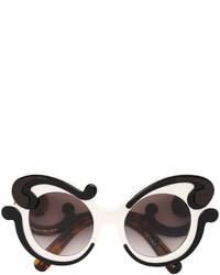 Gafas de sol en marrón oscuro de Prada