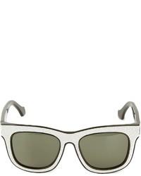Gafas de sol en negro y blanco de Balenciaga