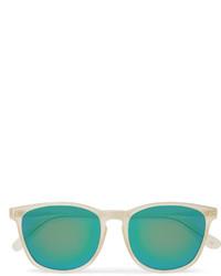 Gafas de sol en verde azulado