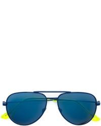 Gafas de Sol en Verde Azulado de Saint Laurent