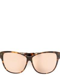 Gafas de sol marrón claro de Linda Farrow