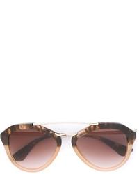 Gafas de sol marrónes de Prada