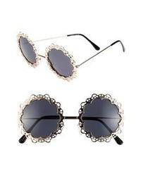Gafas de Sol Negras y Doradas