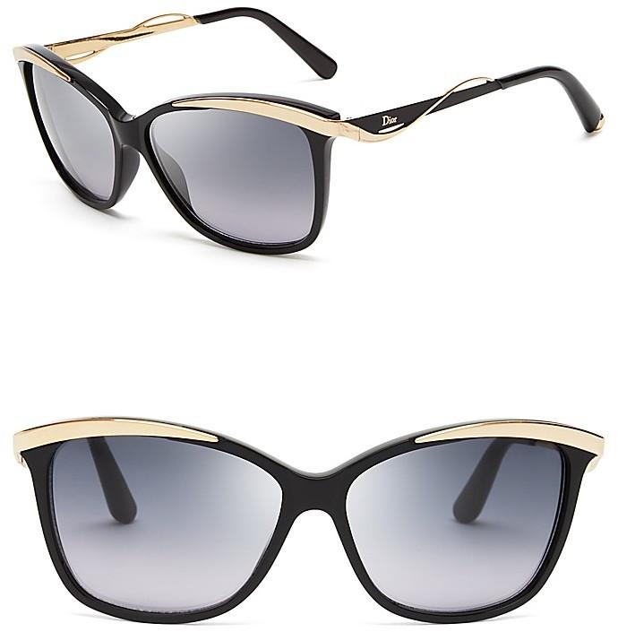59beca4f3c9 Gafas de sol negras doradas de christian dior dónde comprar jpg 690x705 Dior  cat eyes glasses