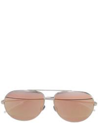 Gafas de sol plateadas de Christian Dior